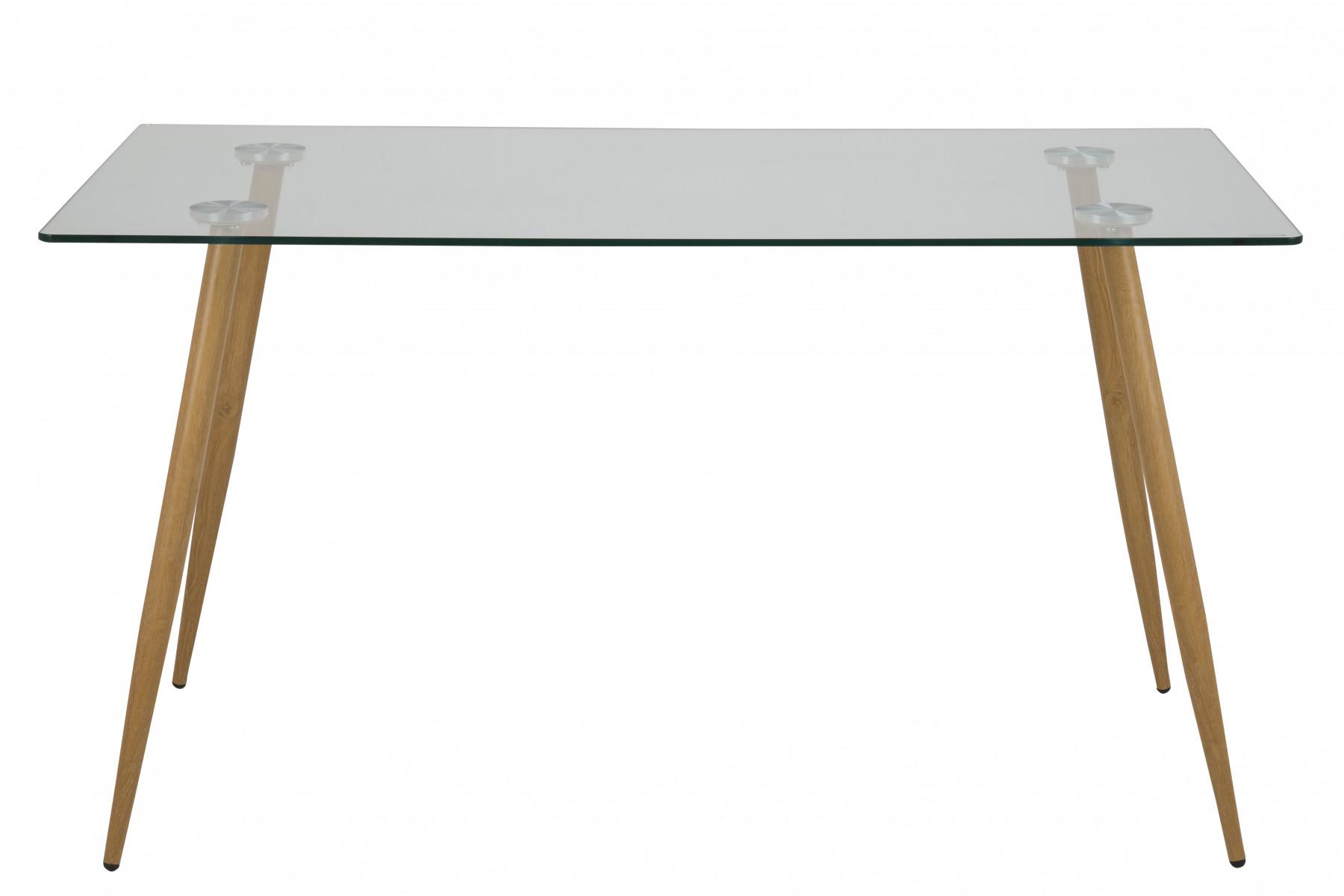 Ekstra Smart spisebord i glas med elegante tynde ben i metal i egelook. AD64