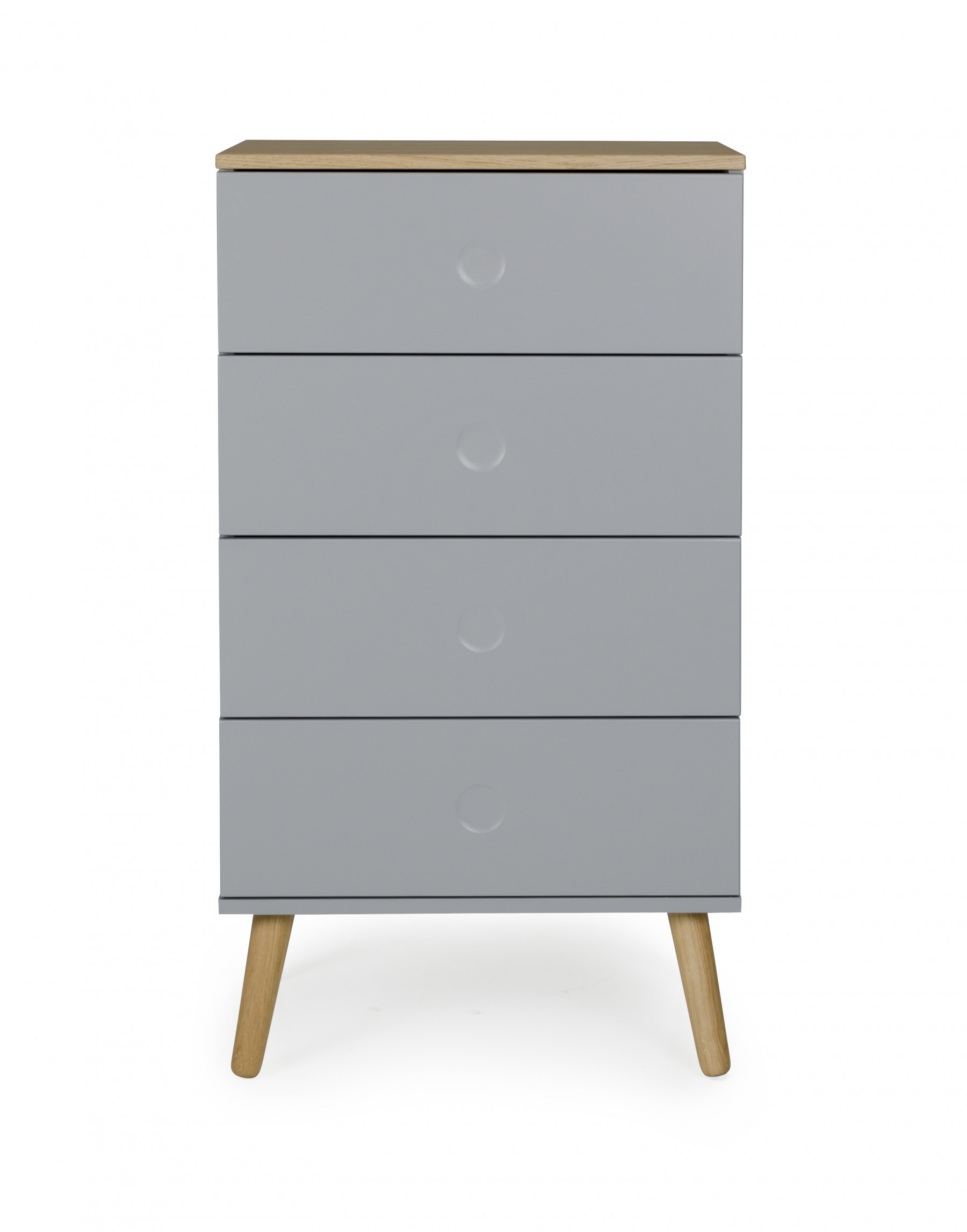 kommode i 55 cm bredde med 4 skuffer topplade og ben i eg. Black Bedroom Furniture Sets. Home Design Ideas