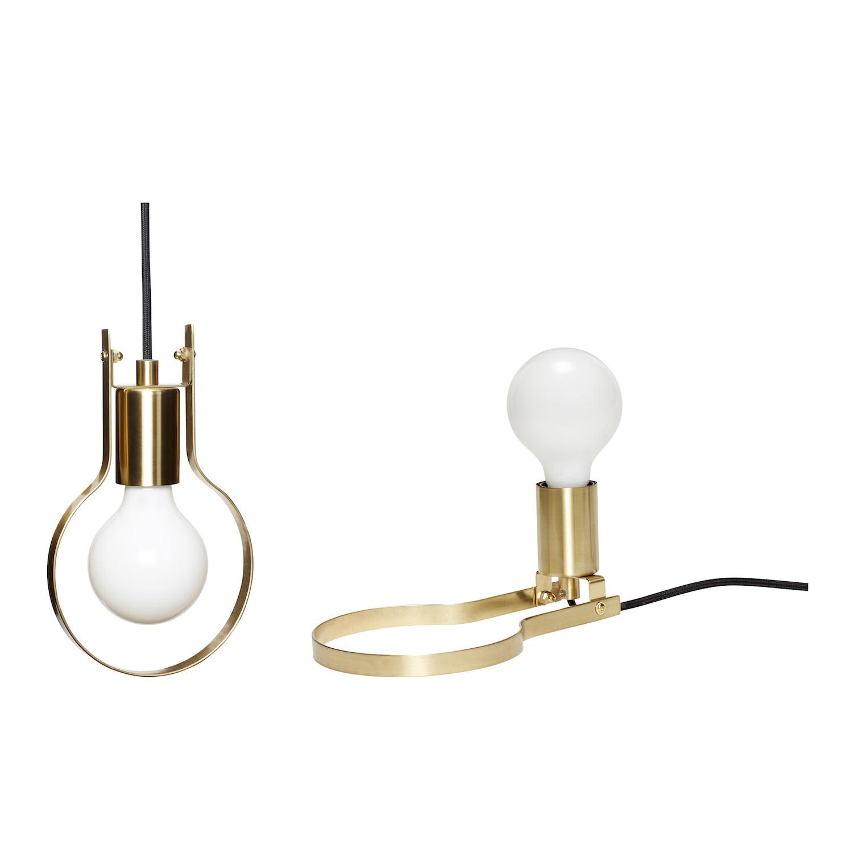 Moderne Hübsch Multifunktionel Lampe i Messing KL-52