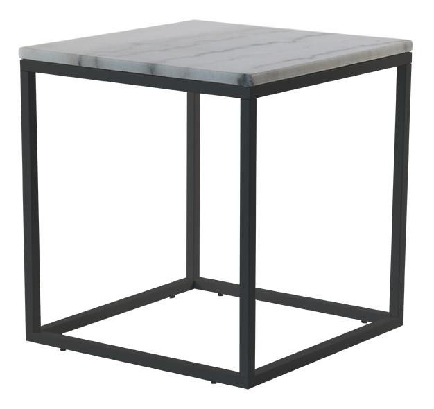Af modish Flot sofabord eller hjørnebord med lys marmor plade og stel i VI77