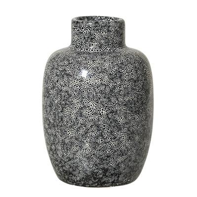 Bloomingville lille vase sort stentøj