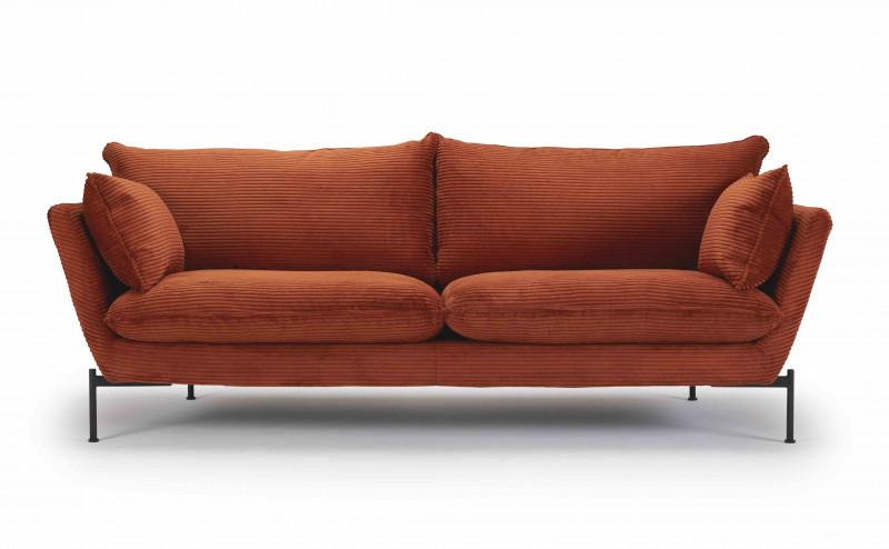 Hasle Lux 3 Pers. Sofa vist i 595 Burnt Orange