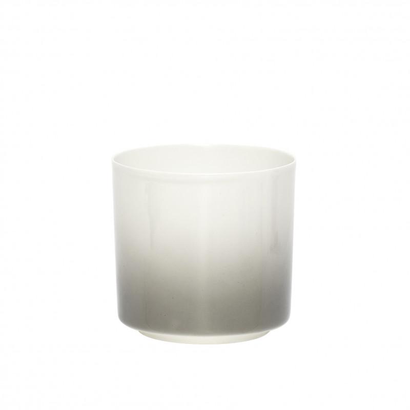 Hübsch Fyrfadsglas grå gradie