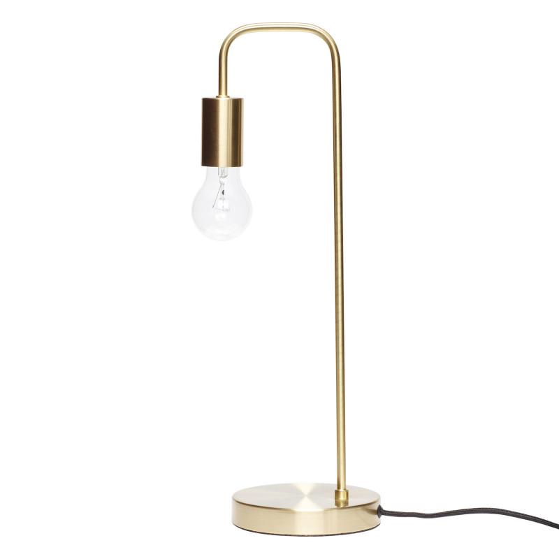 Hubsch Klassisk Bordlampe i Messing
