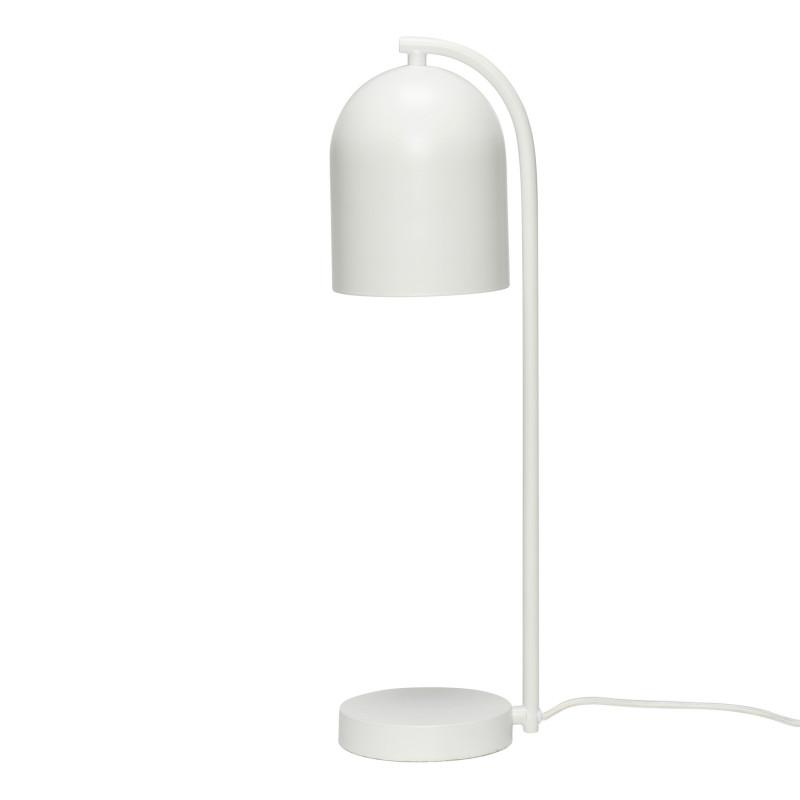 Hubsch Klokkeformet Bordlampe i Hvid Metal