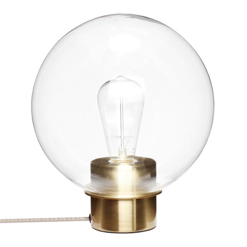 Hubsch Kugleformet Bordlampe i Glas og Marmor