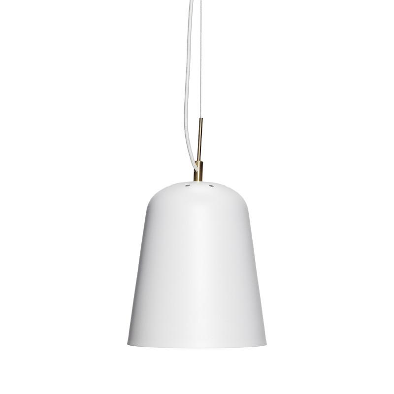 Hubsch Loftslampe i Hvid Metal og Messing ø22