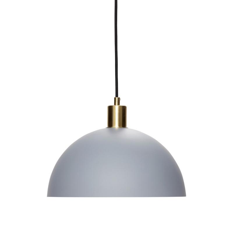 Hubsch Loftslampe i Mat Grå og Messing ø30