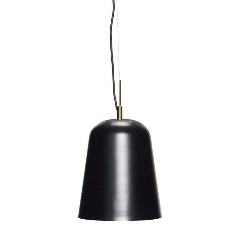 Hubsch Loftslampe i Sort Metal og Messing ø22