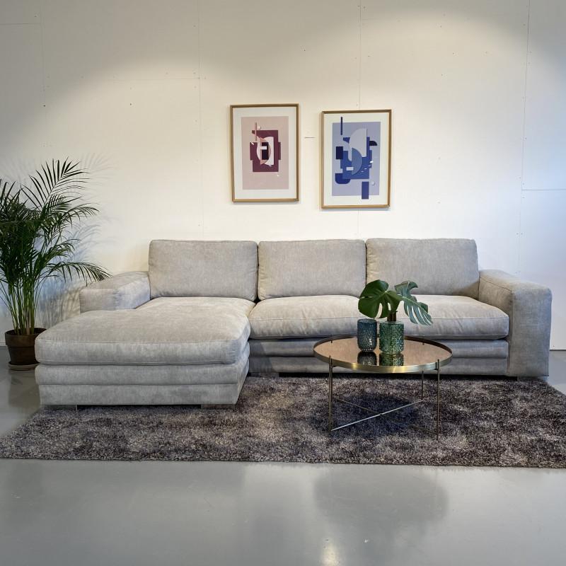 Seattle Sofa med Chaiselong-Lysegrå