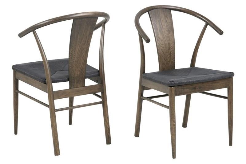 Johannes Spisebordsstol i Røget Træ med Flet