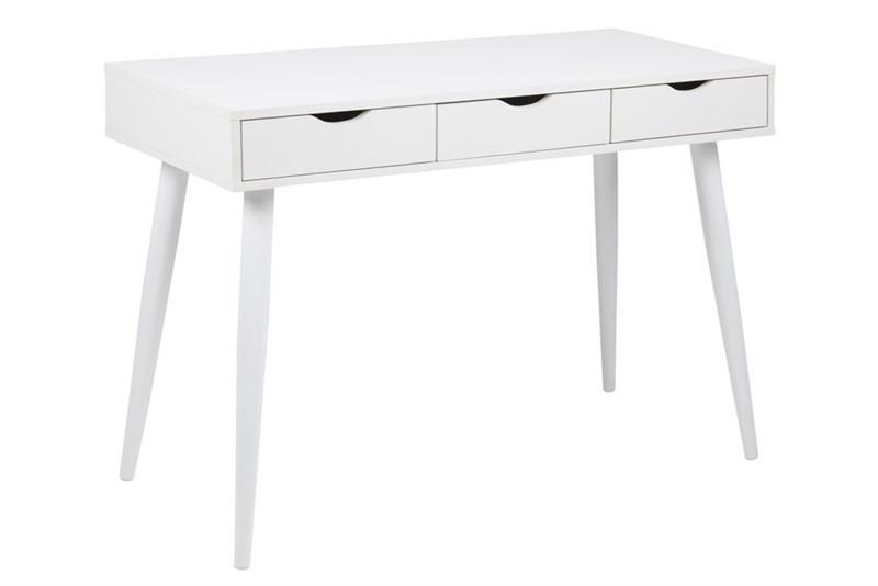 Nellie Skrivebord i Hvid med 3 Skuffer