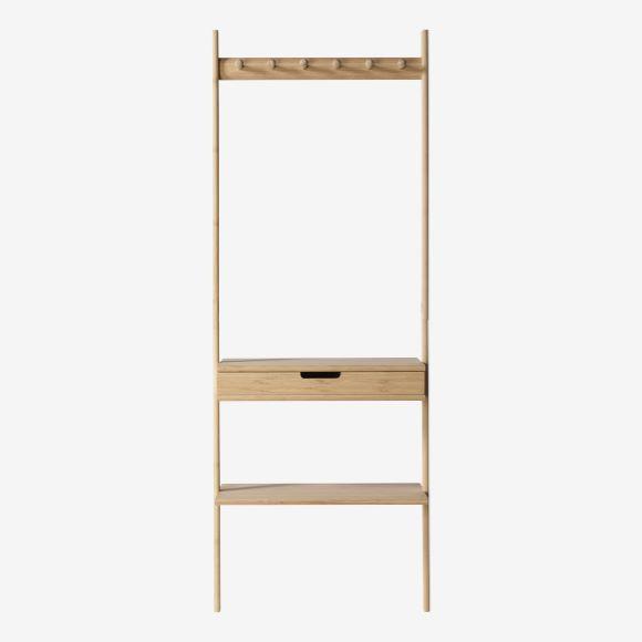 Populære Let og elegant entre møbel med skuffe, hylde og knager i bambus. OC-27