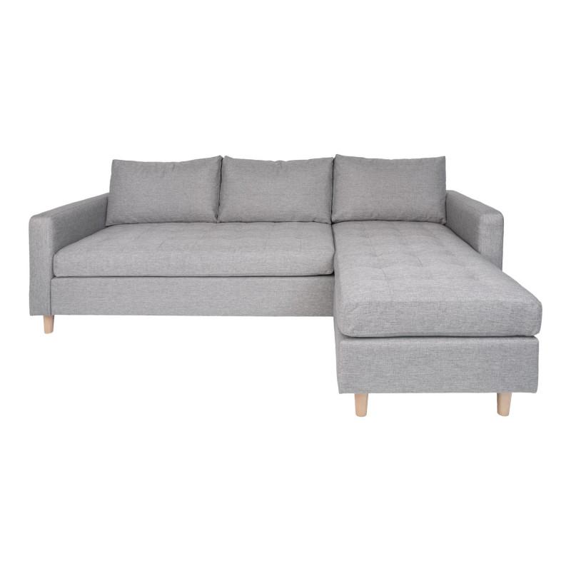 Ravello Chaiselong Sofa-Lysegrå-Højre