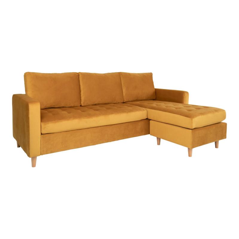 Ravello Chaiselong Sofa Sennepsgul Velour
