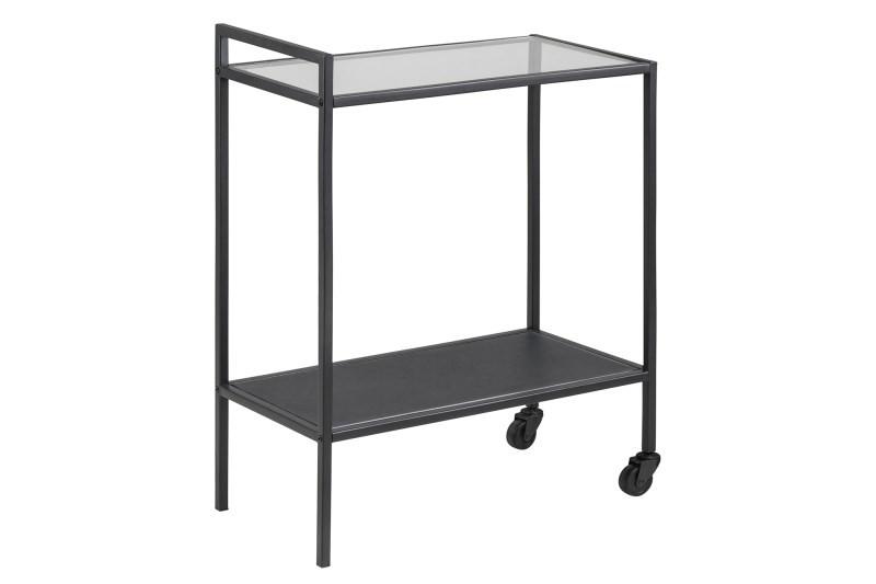 Modernistisk Tokyo rullebord er et elegant lille bord mat sortlakeret metal. OU84