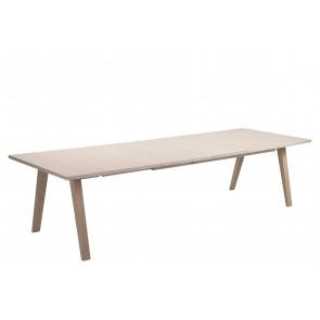 Aform Spisebord m/2 tillægspl. i Hvidpig. Eg