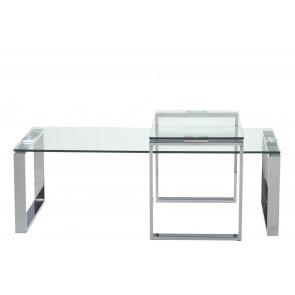 Katia Sofabordssæt 2 borde Krom og Glas
