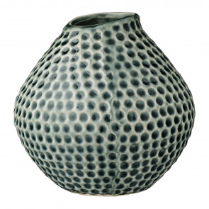 Bloomingville Vase, Mosgrøn med fordybninger