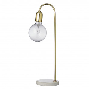 Bloomingville Bord Lampe Marmor/Messing