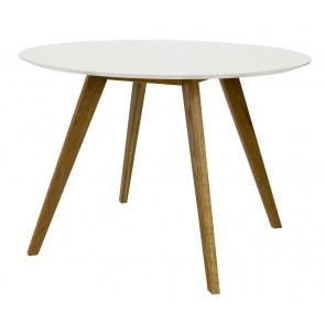 Bess Spisebord Rundt Hvid/Eg