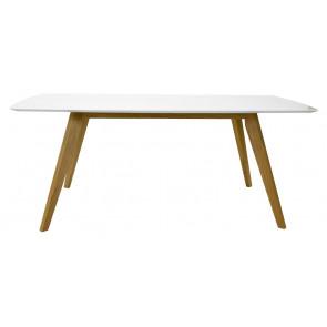 Bess Spisebord 185 Hvid/Eg