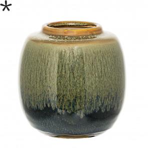 Bloomingville Vase, Grøn/Blå/Karrygul
