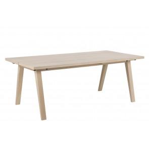 Aform Spisebord med Udtræk Hvidpig. Eg