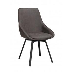 Ally Spisebordsstol m. Drejefunktion Mørkegrå Microfiber