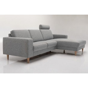 Ancona Sofa m/Chaiselong. Bred arm