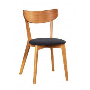 Ane Spisebordsstol Eg m. Mørkegråt Sæde