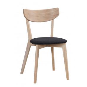 Ane Spisebordsstol Hvidpig. Eg m. Mørkegråt Sæde