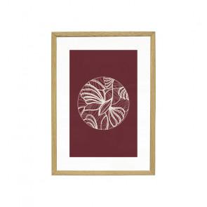 Billedramme Egetræ Small Inkl. Billede