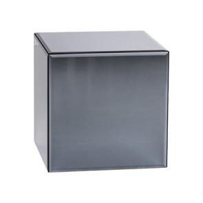 Bloomingville Box Silver Sidebord, Gråt Glas