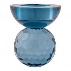 Bysanti Fyrfadsstage - Blåt Glas
