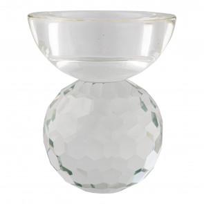Bysanti Fyrfadsstage - Klart Glas