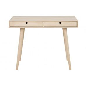 Claudio Skrivebord i Hvidpigmenteret Egetræ med 2 skuffer