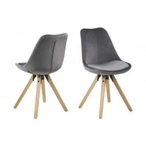 Dali Spisebordsstol Mørkegrå Velour