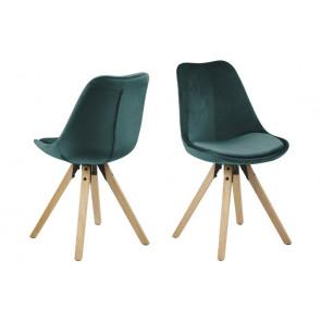 Dali Spisebordsstol Grøn Velour