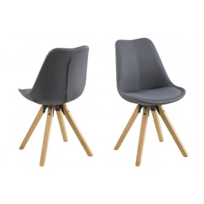 Dali Spisebordsstol Mørkegrå Stof