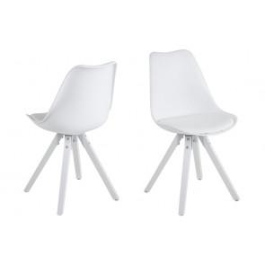 Dali Spisebordsstol Hvid Hvide ben