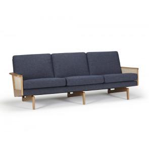 Egsmark Fransk Flet 3 Pers. Sofa 246 Dark Blue