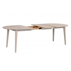 Feodora Ovalt Spisebord 170 Hvidpigm. Eg-udtræk vist