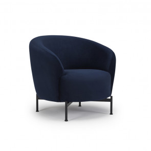 Gran Stol. Sorte metal ben. Velour 541 Dark Blue.