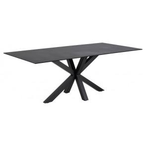 Hardanger Spisebord-Sort Keramik-200
