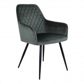 Harry Spisebordsstol - Grøn Velour
