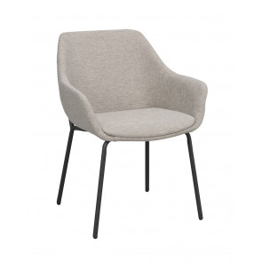Harvey Spisebordsstol m/armlæn - Lysegrå