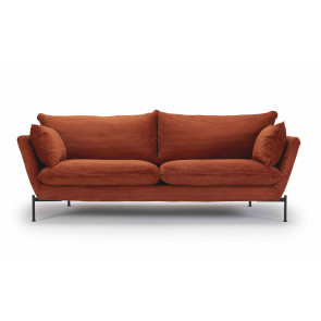 Hasle Lux 3 Pers. Sofa vist i 595 Burnt Orange