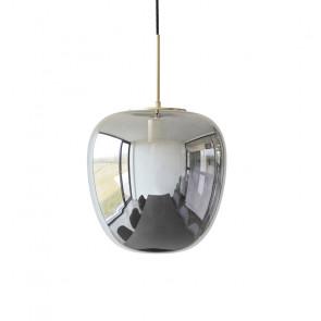 Hubsch Loftslampe i Messing og Spejlglas ø30