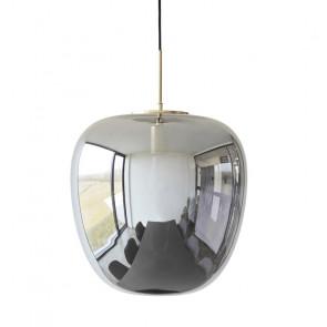 Hubsch Loftslampe i Messing og Spejlglas ø40